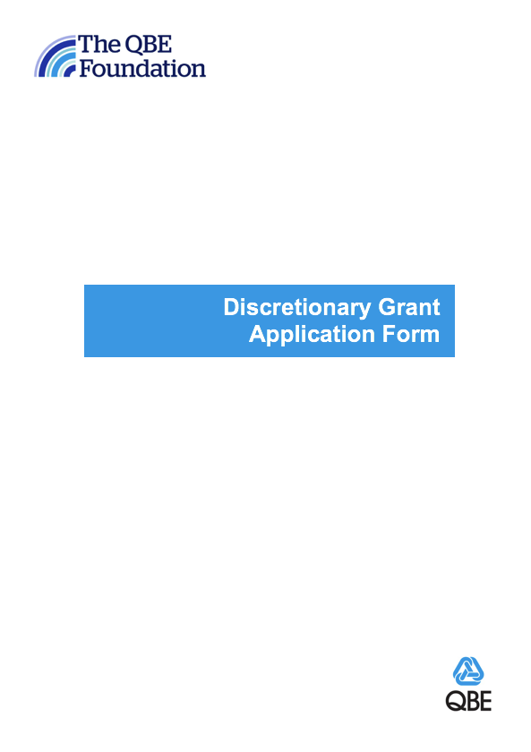 QBE Foundation Grant Application Form